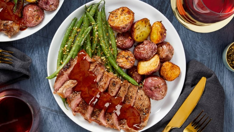 Sirloin and Tangy Steak Sauce