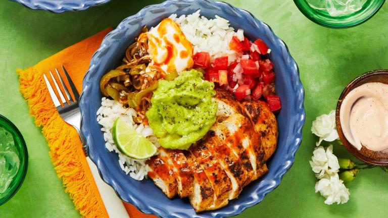 Chicken and Guac Burrito Bowls