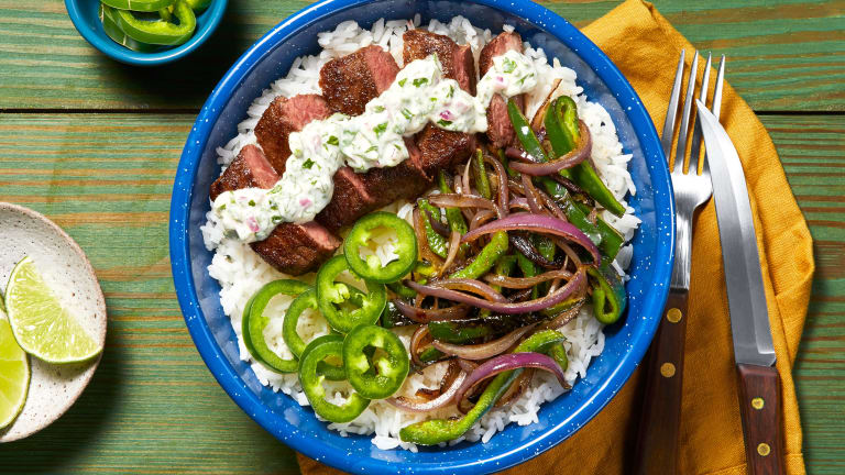 Creamy Cilantro Steak Bowl