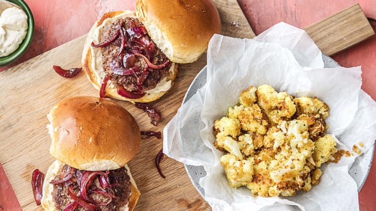 Balsamic Onion Burgers