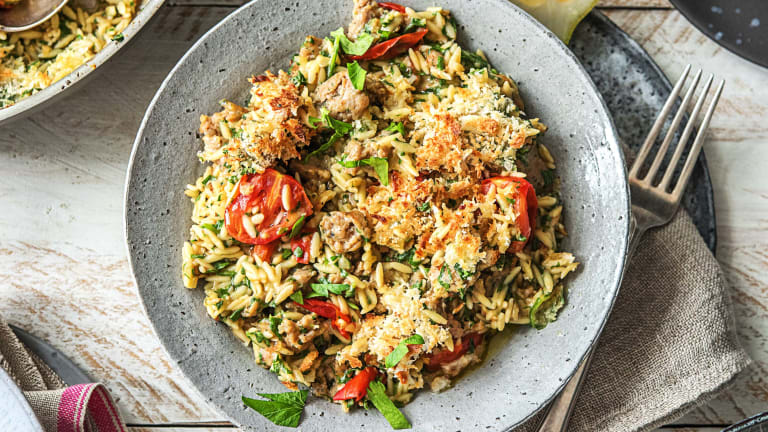 One-Pan Orzo Italiano