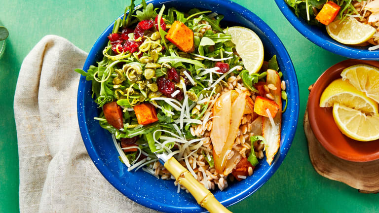 Roasted Veggie Farro Bowl