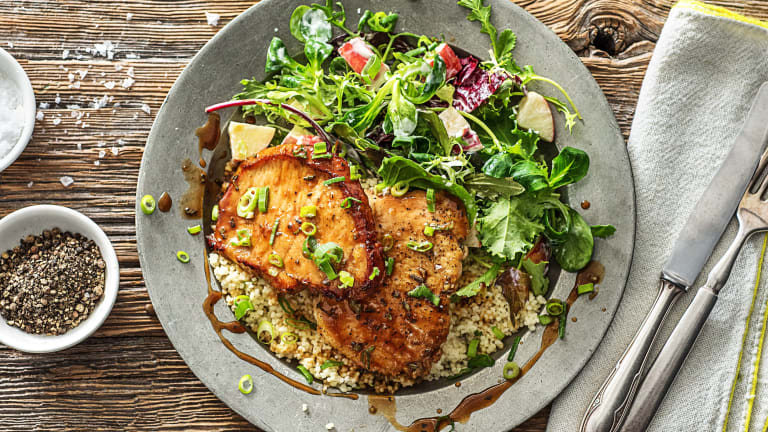 Maple and Rosemary-Glazed Pork Cutlets
