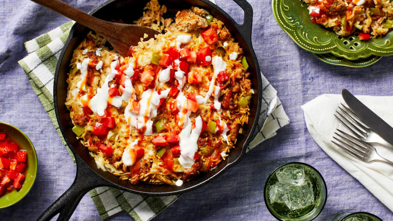 Chicken Sausage and Rice Skillet