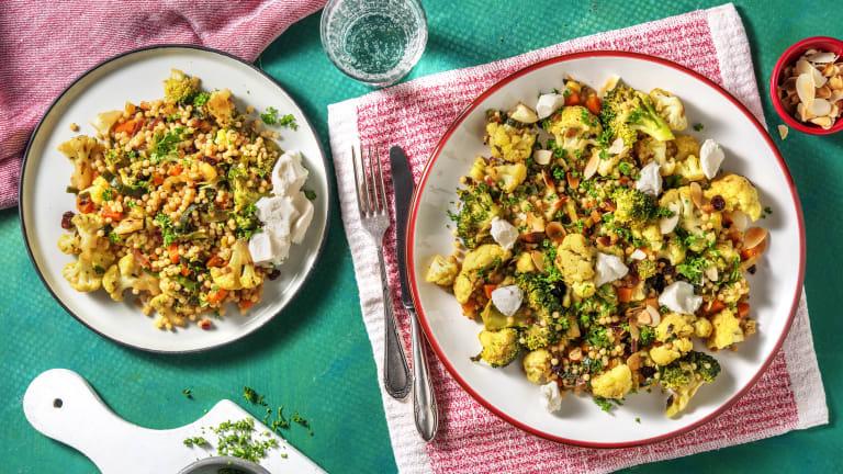 Couscous perlé et légumes à la hollandaise
