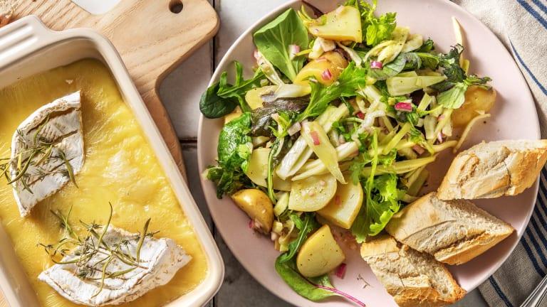 Camembert au four au thym et au romarin
