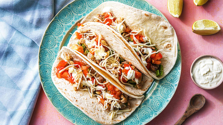 Chopped Chicken Thigh Tacos