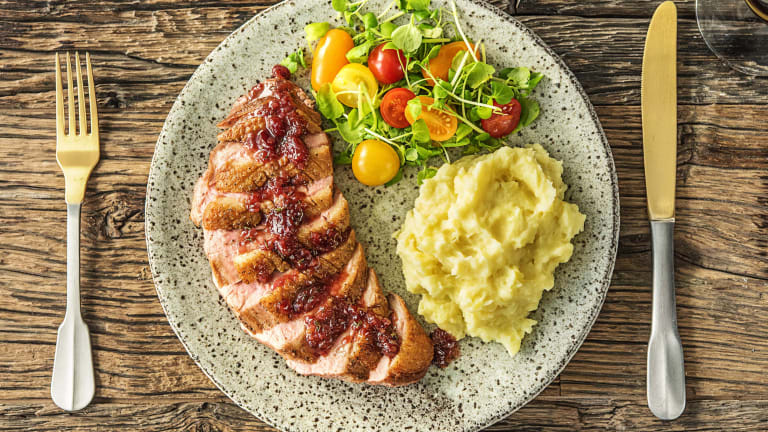 Cranberry-Drizzled Duck Breasts