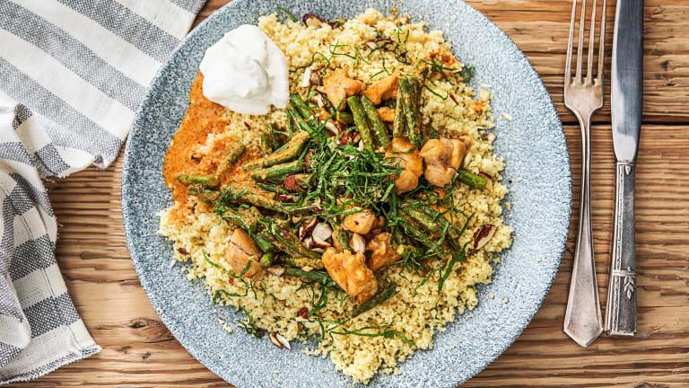 Curry met kippendij en couscous