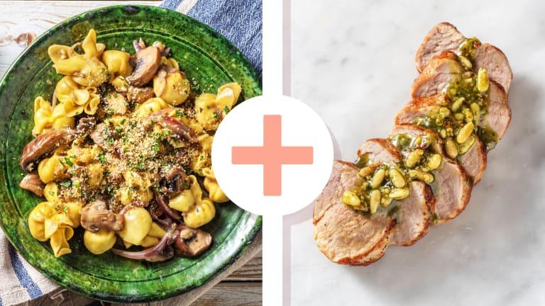 Fiorelli-Pasta mit extra Schweinefilet