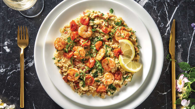 Garlic Prawn & Chorizo Risotto