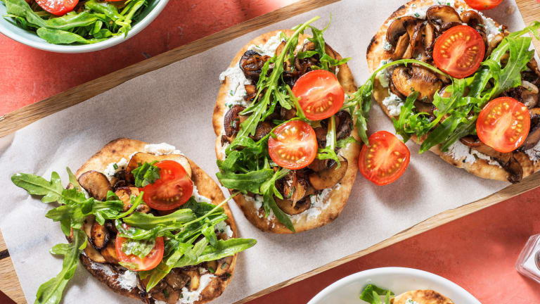 Mushroom and Caramelized Onion Pizzettes
