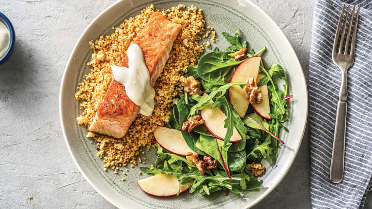 Seared Salmon & Spiced Couscous
