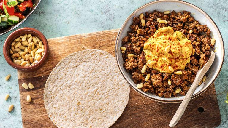 Snelle tortilla's met gekruid gehakt