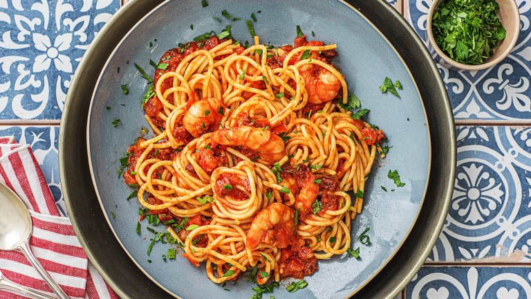 Prawn and Chorizo Spaghetti