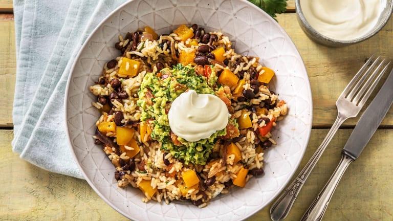 Warm Mexican Bean Bowl