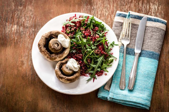 Low Carb Recipes - Roasted Field Mushrooms