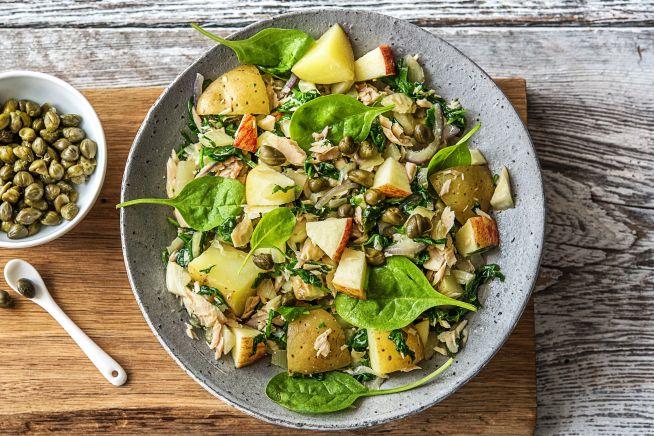 Caloriearme recepten - Salade met tonijn en Opperdoezer Ronde aardappel