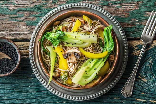 Gesunde Gerichte - Sobanudel-Gemüse-Pfanne