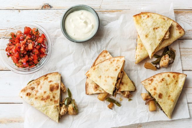 Quick meals - Chicken Pineapple Quesadillas