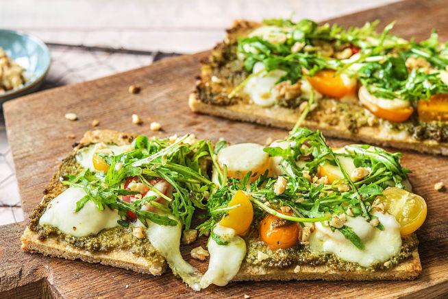 Quick meals - Heirloom Tomato Flatbreads