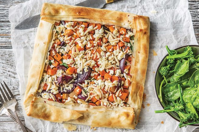 Vegetarian Recipes - Roast Pumpkin, Fetta Sage Tart