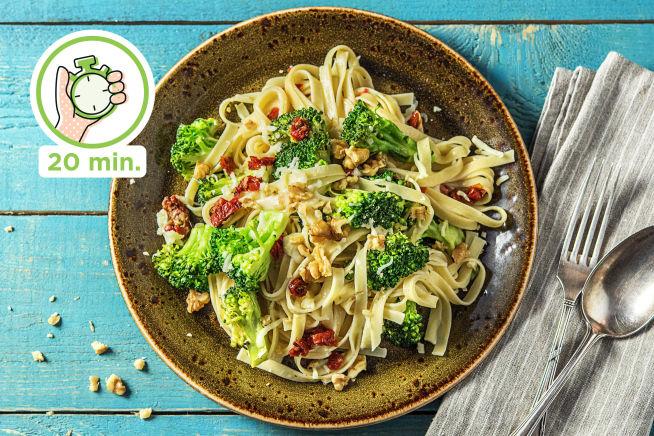 Snelle recepten - Romige fettuccine met broccoli