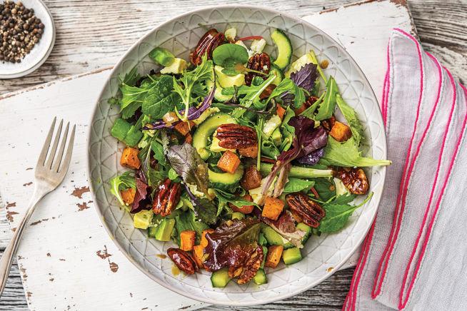 Vegetarian Recipes - Avocado & Marinated Goat Fetta Salad