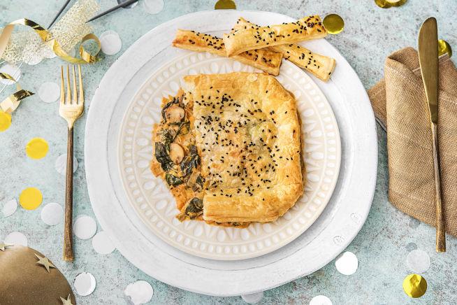 Schnelle Gerichte - Blitzschneller Champignon-Porree-Pie