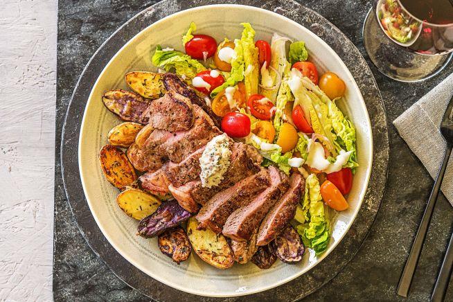 Buttered Rosemary Strip Steak