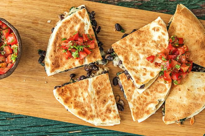 Vegetarian Recipes - Kale and Black Bean Quesadillas