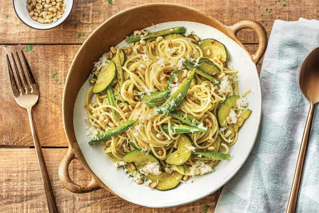 Vegetarian Recipes - Lemon Pesto & Pine Nut Spaghetti
