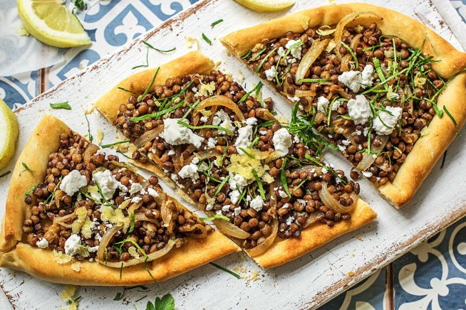 Global Flavours - Middle Eastern Lentil Pide