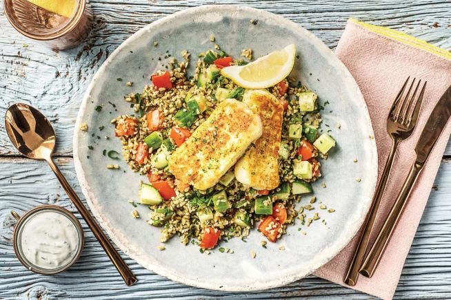 Vegetarian Recipes - Speedy Moroccan Style Haloumi