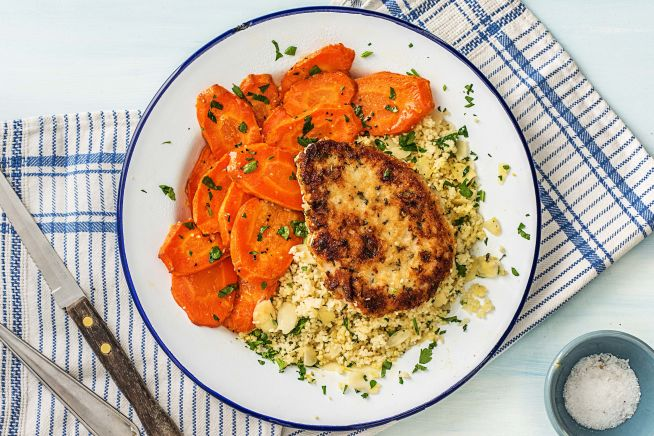 Parmesan and Rosemary Crusted-Pork Chops