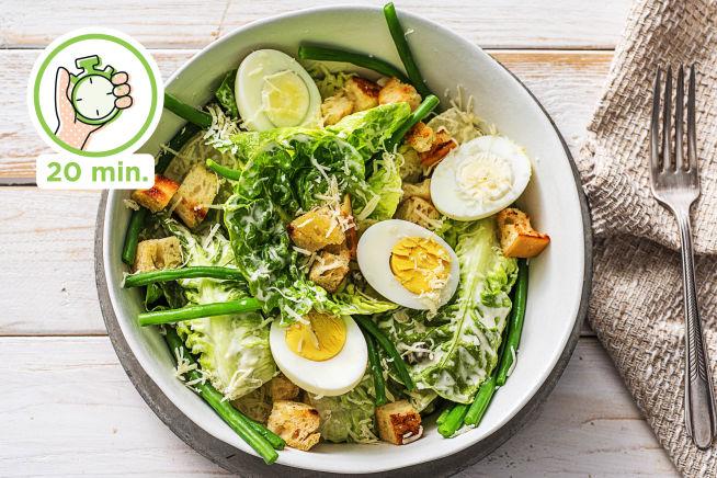 Snelle recepten - Vegetarische caesar salade
