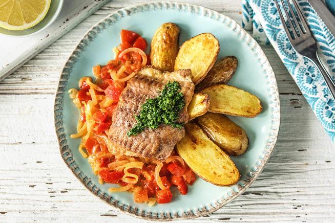 Gesunde Gerichte - Welsfilet mit Ofenkartoffeln,