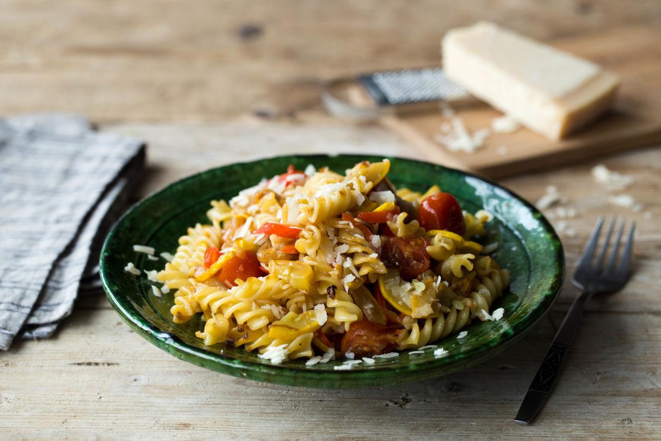Burst Tomato & Squash Fusilli