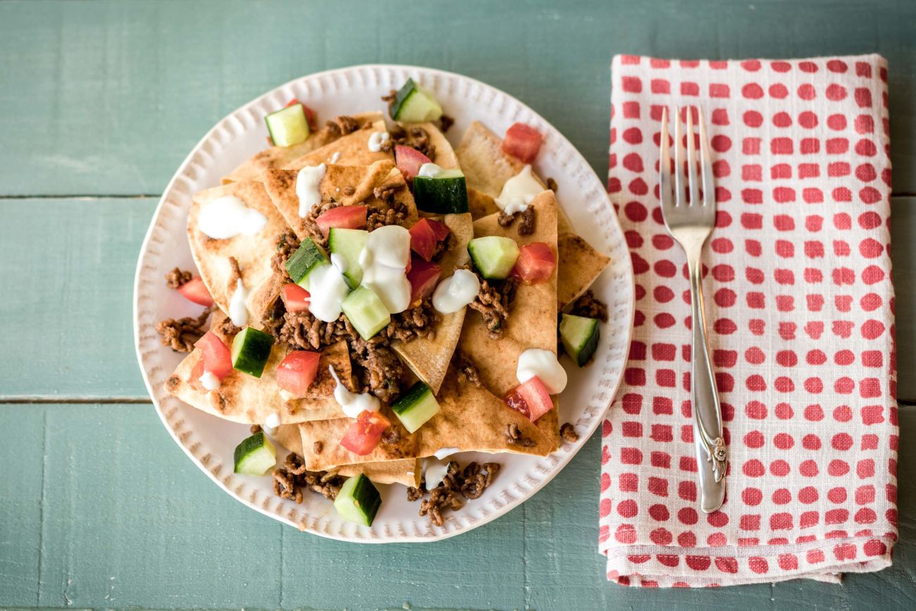 Greek Lamb Nachos
