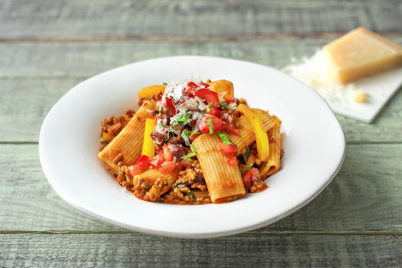 Beef Ragout with Rigatoni,