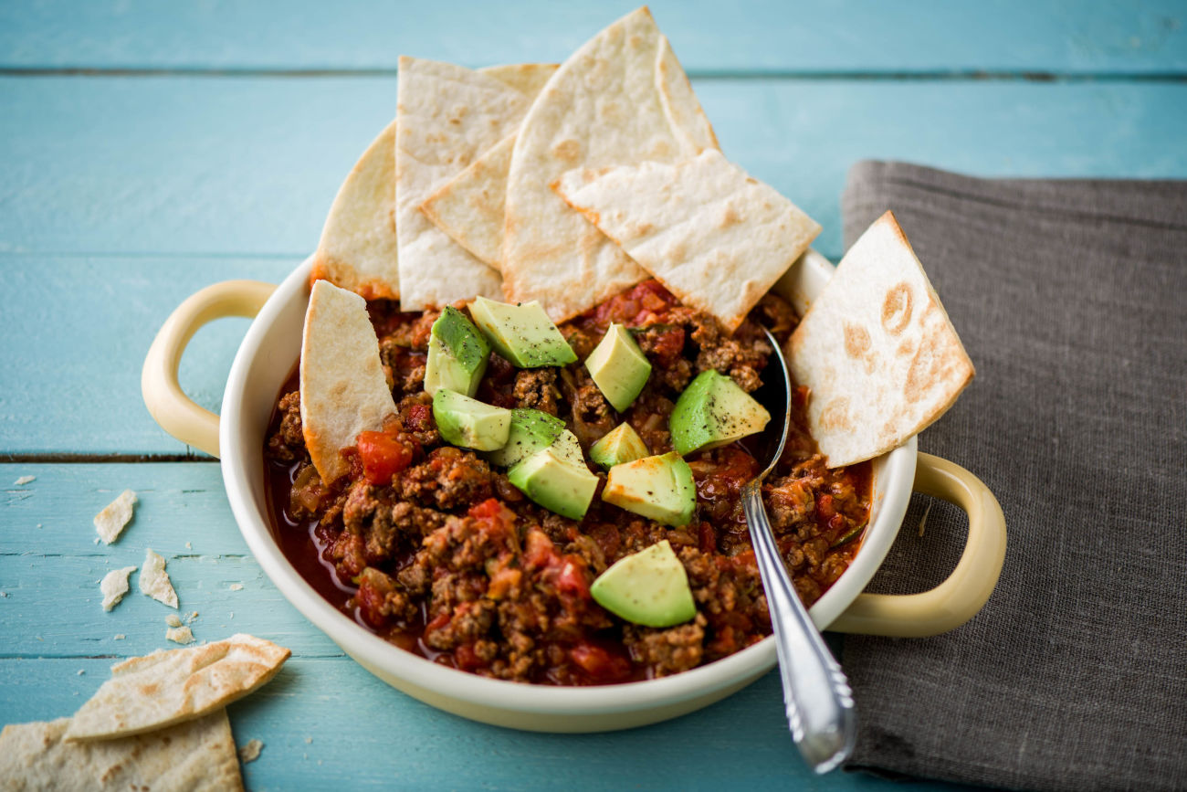 Family Mexican Beef Tortilla Bowl