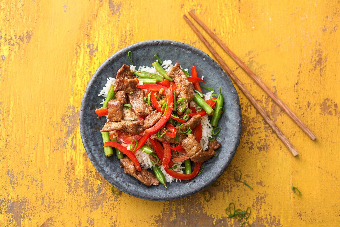 Stir-Fry mit Rindfleisch