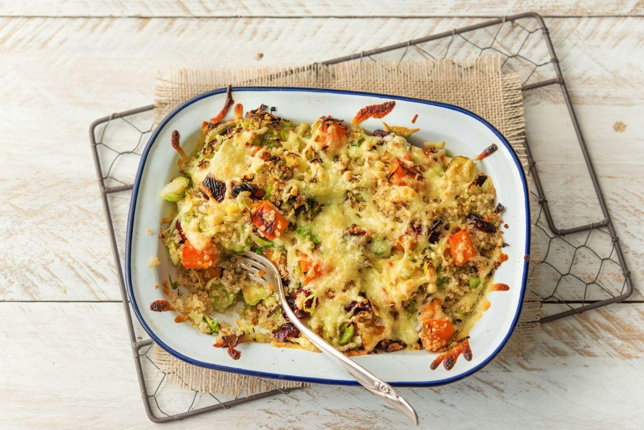 easy butternut squash recipes-HelloFresh-Melty-Gruyere-Topped-Quinoa