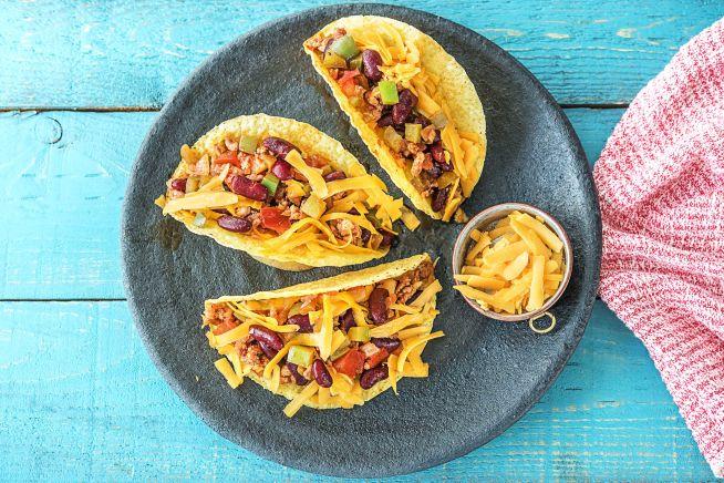 Snelle recepten - Mexicaanse taco's met kipgehakt
