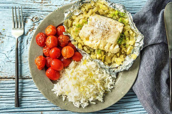 Caloriearme recepten - Vispakketje met kabeljauw en venkel