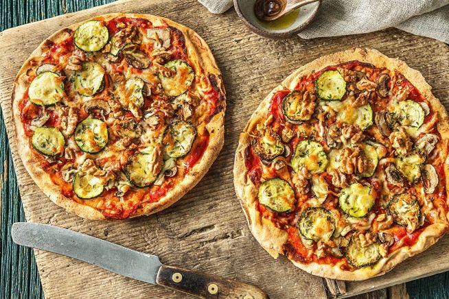Vegetarische recepten - Platbroodpizza met gegrilde courgette