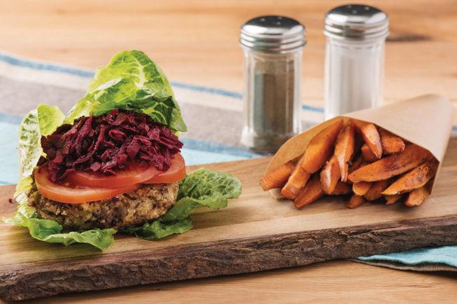 Vegetarian Recipes - Bunless Lentil & Fetta Burgers