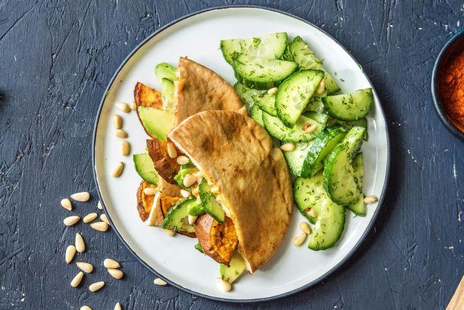 Quick meals - Harissa Sweet Potato Pita Pockets
