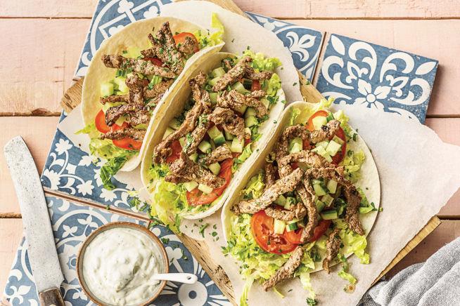 Quick Meals - Speedy Mediterranean Beef Mini Tortilla Wraps
