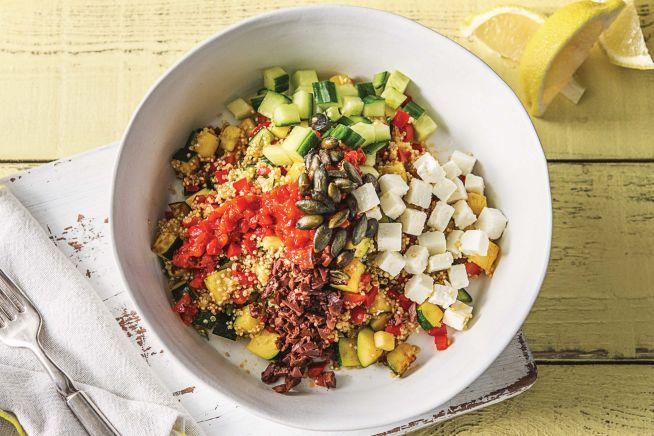 Vegetarian Recipes - Mediterranean Quinoa Bowl